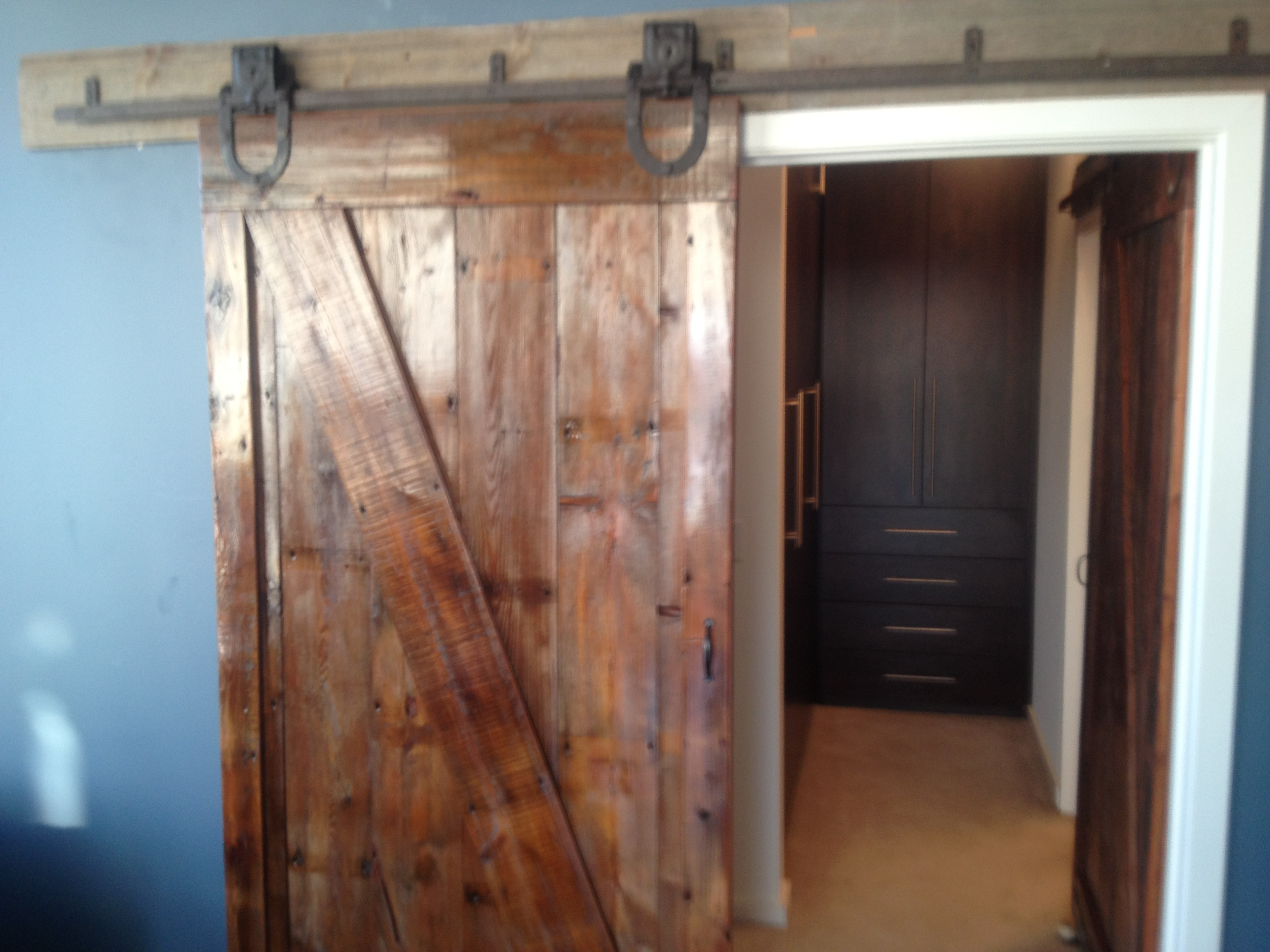 Barnwood doors midwest reclaimed lumber for Reclaimed wood decking